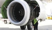 Bursaspor uçağına leylek engeli!