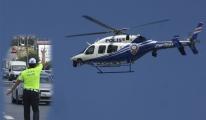 Çamlıca gişelerde helikopterden ceza yağdı