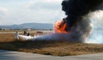 Çanakkale Havaalanı'nda Yangın Tatbikatı