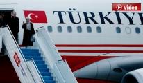 Cumhurbaşkanı Erdoğan Fransa'ya gitti...video