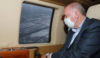 Cumhurbaşkanı Erdoğan'ın helikopteri acil iniş yaptı (Görüntülü)