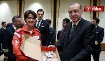 Cumhurbaşkanı Erdoğan Pilotları Kabul Etti video