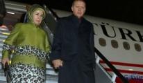 Cumhurbaşkanı Erdoğanın uçağı inemedi