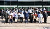 Denizli'de şehit yakınlarına ve gazilere Devlet Övünç Madalyası verildi