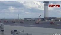 Dev araçlar Hava Trafik Kontrol Kulesi'ni selamladı