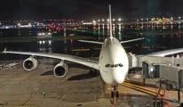Dev uçak İstanbul Havalimanı'na acil iniş yaptı #video