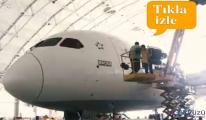 Dreamliner'a 'Maçka' ismi yapıştırıldı!video