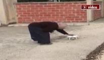 Drone gören kadının tepkileri gülümsetti!video