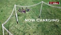 Drone'lar havadayken kablosuz olarak şarj edilebilecek