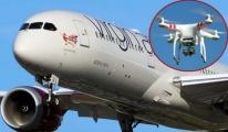 Drone uçağa 3 metre kadar yaklaştı!