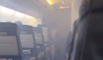 Dumanla  dolmuş uçakta 30 dakika