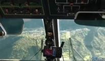 luckla Havalimanı'na iniş kokpit görüntüsü!