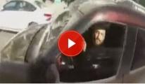 E-5'te Motosiklet Sürücüsü İle Otomobilin Tehlikeli Atışması