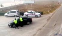 #Ehliyetsiz sürücü, drondan kaçamadı(video)