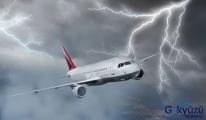 Elektrik Yüklü Bulutlar, Uçakları İndirtmedi...
