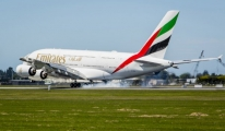 Emirates, A380'le Auckland ve Christchurch'e Uçtu