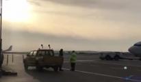 Ercan Havalimanı'nda güneşin doğuşu (video)