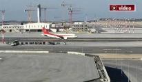 Erdoğan'ın Uçağı İstanbul Havalimanı'na iniş yaptı!video