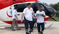 Erken Doğan Bebeğe Hava Ambulansı