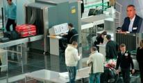 Eski vekil havaalanında olay çıkardı