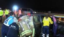 Fatih Sultan Mehmet Köprüsü çıkışı kaza, 3 yaralı