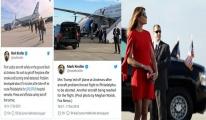 Trump'ın eşinin uçağı zorunlu iniş yaptı!