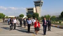 Funda Ocak, lğdır Şehit Bülent Aydın havalimanını ziyaret Etti