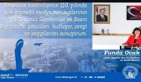Funda Ocak,24 Temmuz Basın Bayramını kutladı