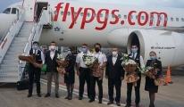 Gazipaşa-Alanya Pegasus'un Kiev'den gelen ilk uçuşunu karşıladı
