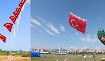 Gökyüzünü Türk bayrakları süsleyecek