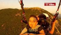 Yamaç Paraşütü İle Uçtu Hayali Gerçek Oldu video