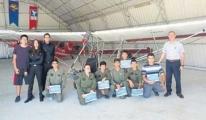 Havacı adayları diplomasını aldı