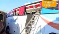 videuo Havaist otobüsü devrildi: 1 ölü,9 yaralı!