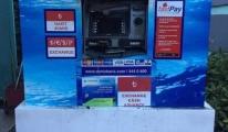Havalimanı apronunda ATM cihazı yandı