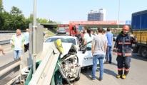 Havalimanı Yola Ayrımında Kaza: 1 Yaralı