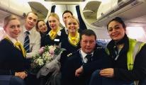 Havaş Kiev-Kayseri uçuşunu karşıladı!