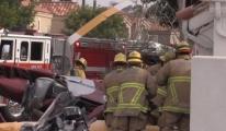 Helikopter evin üzerine düştü: 3 ölü, 2 yaralı