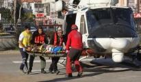 Yamaç paraşütüyle  düşen Çinli turist yaralandı