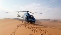 Helikopterler zorlu çöl arazisinde güvenliği nasıl sağladı?