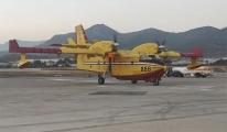 Hırvatistan'dan gelen yangın uçağı Alanya-Gazipaşa'ya indi