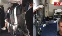 Hostes Uçakta Şarap Şişesini Yolcunun Kafasında Kırdı!
