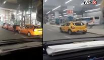 İGA Taksiciler yasaklı alan dinlemiyor!video