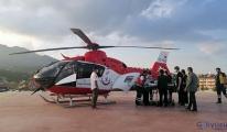 İlk helikopter minik Hamza için havalandı