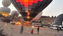 Yerli sıcak hava balonları, Kapadokya semalarında(video)