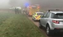 İngiltere'de uçak düştü