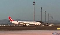 İran'dan gelen uçak dezenfekte edildi