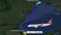 IST-Odesa seferini yapan uçak geri döndü