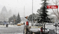 İstanbul'da kar yağışı başladı video