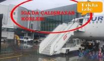 İstanbul Havaliman'nda THY uçağını su bastı!