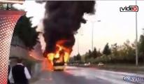 İstanbul Havalimanı İETT otobüsü yandı!video